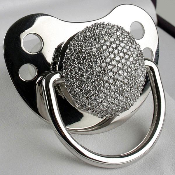 Diamante Pacifier? Only the best for my kids.
