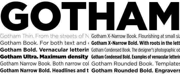 gotham-variants