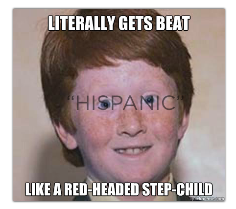 Has slang term for redhead above told